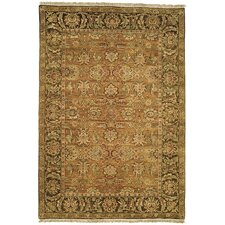 Old World Gold/Light Green Agra Rug