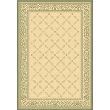Courtyard Natural/Olive Outdoor Rug