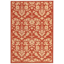 Courtyard Red/Natural Outdoor Rug
