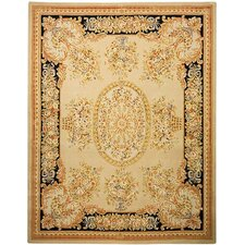 <strong>Safavieh</strong> French Tapis Beige/Black Rug