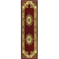 Lyndhurst Red/Ivory Aubusson Area Rug