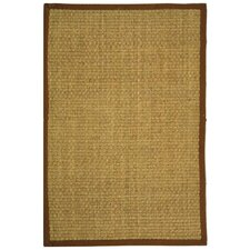 Natural Fiber Natural & Brown Area Rug