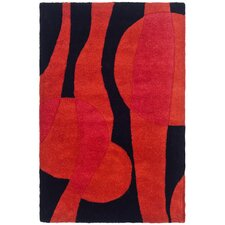 Soho Black/Red Rug