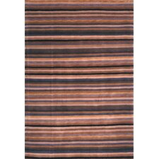 Tibetan Black/Blue Stripes Area Rug