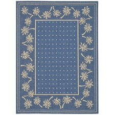 Courtyard Blue/Ivory Outdoor Rug