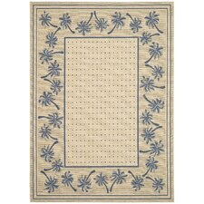 Courtyard Ivory/Blue Outdoor Rug