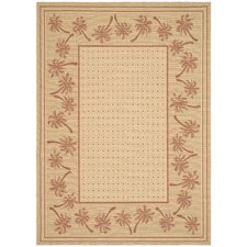 Courtyard Ivory/Rust Outdoor Rug