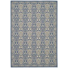 <strong>Safavieh</strong> Courtyard Blue/Ivory Checked Rug