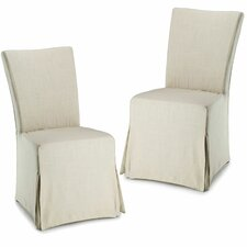 <strong>Safavieh</strong> Suzie Slipcover Parsons Chair (Set of 2)