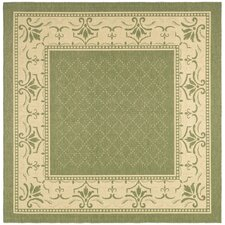 Courtyard Olive / Natural Outdoor Area Rug