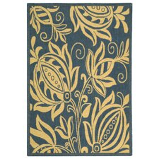 Courtyard Blue & Natural Area Rug