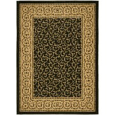<strong>Safavieh</strong> Courtyard Black/Natural Rug