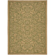 <strong>Safavieh</strong> Courtyard Light Green/Tan Rug