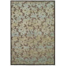 Paradise Dark Brown/Blue Rug