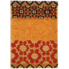 Rodeo Drive Collage Rust/Gold Area Rug