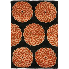 Rodeo Drive Rust/Black Rug