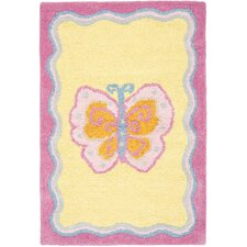 Butterfly Center Kids Rug