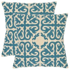 <strong>Safavieh</strong> Casper Cotton Decorative Pillow (Set of 2)