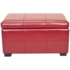 Lucas Bicast Leather Bedroom Storage Ottoman