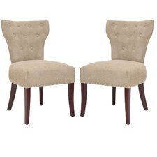 <strong>Safavieh</strong> Ethan Fabric Slipper Chair (Set of 2)