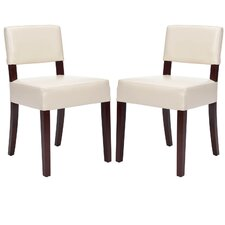 Jacob Bicast Leather Side Chair (Set of 2)