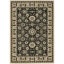 <strong>Safavieh</strong> Courtyard Creme / Black Rug