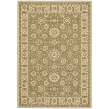 Courtyard Green/Crème Flowers Outdoor Rug