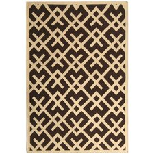 Safavieh Dhurries Chocolate/Ivory Rug