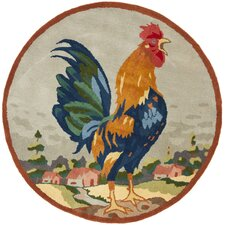Rooster on The Hill Novelty Rug