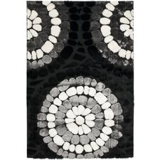 <strong>Safavieh</strong> Miami Shag Black/Multi Rug
