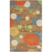 <strong>Safavieh</strong> Soho Brown/Multi Floral Rug