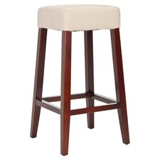 Isabella Barstool in Cream Linen