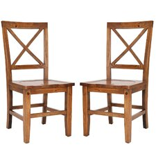 <strong>Safavieh</strong> Camden Crossback Side Chair (Set of 2)