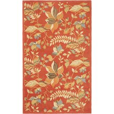 Blossom Rust Floral Area Rug
