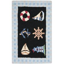 Chelsea Marina Black/Blue Novelty Rug