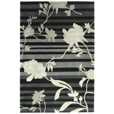 Rodeo Drive Black Floral Area Rug