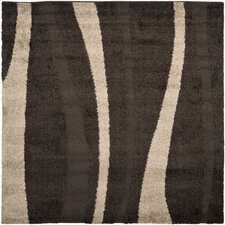 Florida Shag Dark Brown/Beige Rug