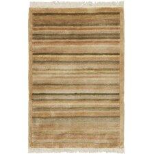 Tibetan Latte Stripe Area Rug