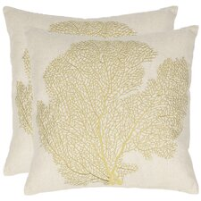 <strong>Safavieh</strong> Robin Cotton Decorative Pillow (Set of 2)