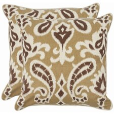 <strong>Safavieh</strong> Brian Cotton Decorative Pillow (Set of 2)
