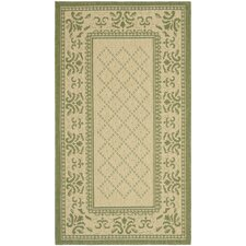 Courtyard Natural/Olive Rug