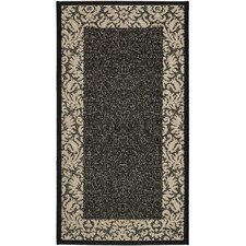 Courtyard Black / Sand Outdoor Area Rug