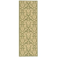 <strong>Safavieh</strong> Courtyard Olive/Natural Rug
