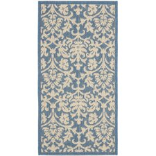 <strong>Safavieh</strong> Courtyard Blue/Natural Rug
