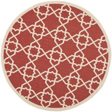 Courtyard Red/Beige Indoor/Outdoor Rug