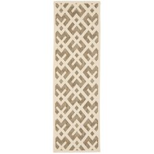 Courtyard Brown/Bone Outdoor Area Rug