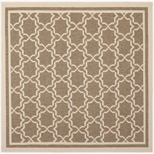 Courtyard Brown/Bone Indoor/Outdoor Rug