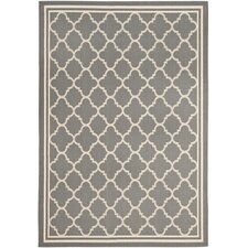 Courtyard Anthracite & Beige Outdoor/Indoor Area Rug