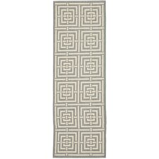 Courtyard Grey / Cream Outdoor Rug
