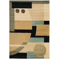 Porcello Tan/Multi Flower Rug